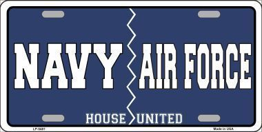 Navy Air Force Novelty Metal License Plate