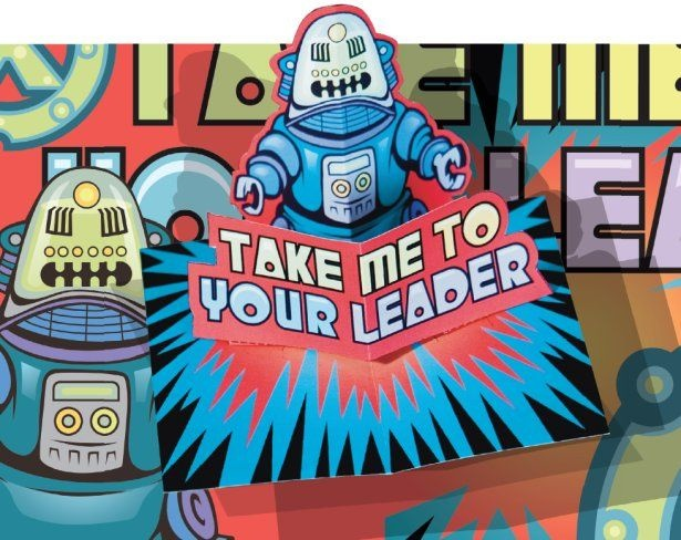 Take Me To Your Leader! - Business Card