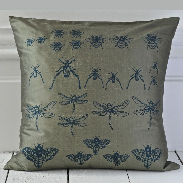 Archive Cushion - Olive Green {Available in other colours or why not commission a bespoke colour}