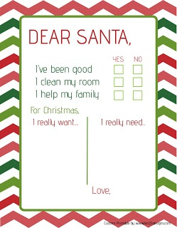 FREE Dear Santa Letter Printable For the younger kids who can't write yet.