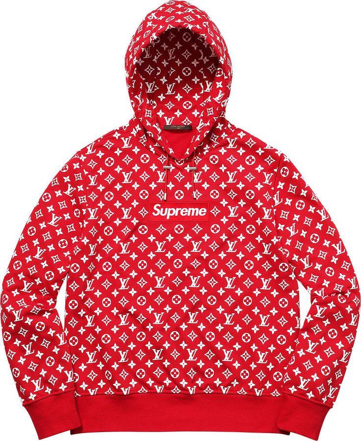 IN HAND Supreme x Louis Vuitton Box Logo Hooded Sweatshirt Hoodie XL M   Clothing, Shoes & Accessories, Men's Clothing, Sweats & Hoodies   eBay!