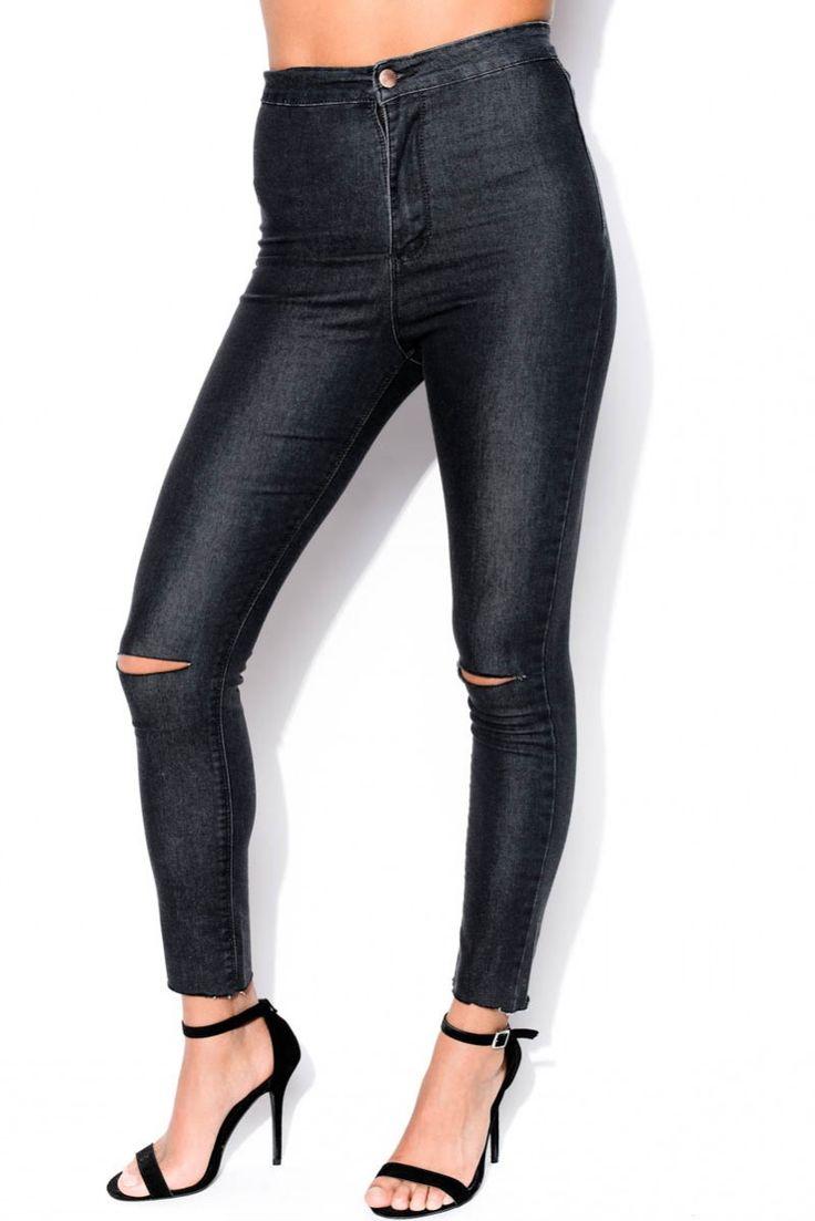 Svarta Jeans - Cut Up