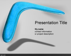 53 best objects ppt templates images on pinterest projects boomerang powerpoint template is a free ppt template with a high resolution boomerang image toneelgroepblik Images