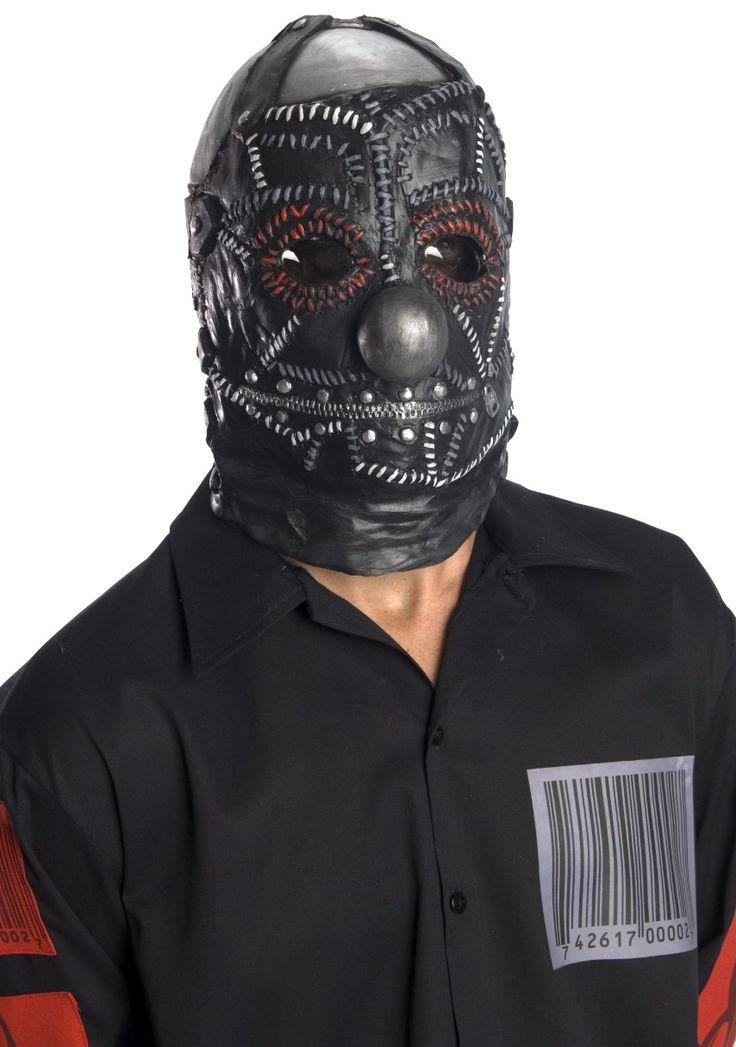 Slipknot Clown Mask, Black, One Size