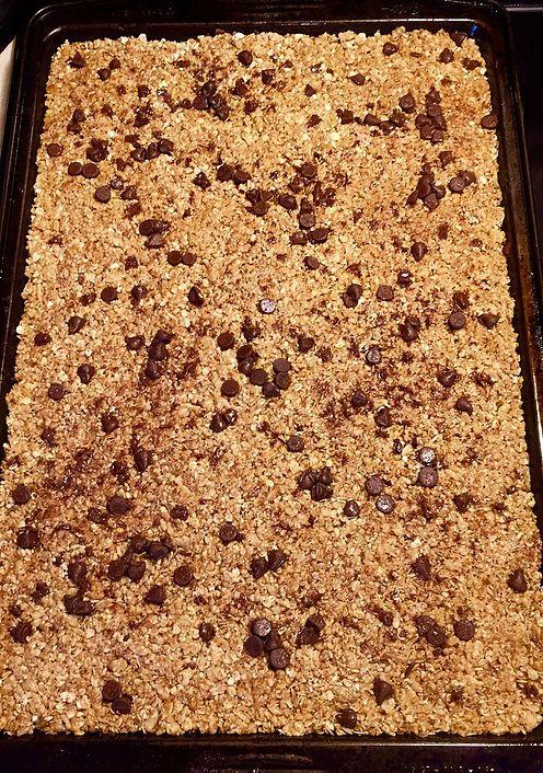 Gluten Free No-Bake Chocolate Chip Granola Bars