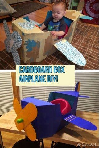 Anna Sundrud Trang: How To Build A Cardboard Airplane! DIY cardboard plane, diy airplane photo prop