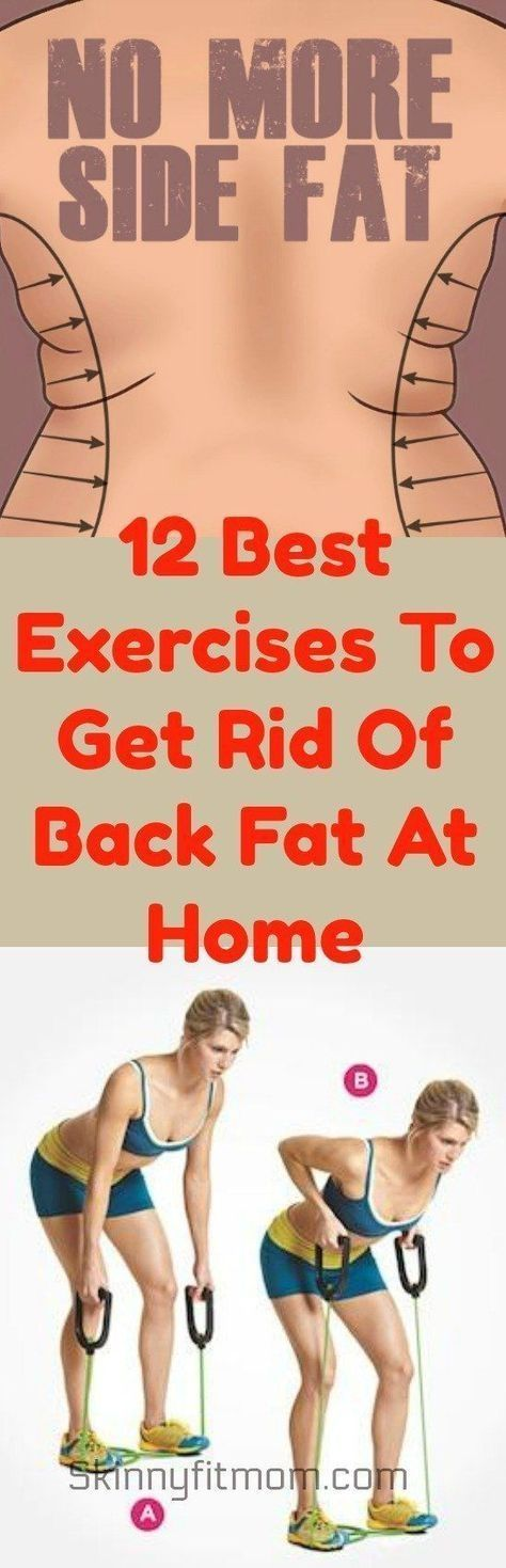 12 Best Exercises To Get Rid Of Back Fat At Home. Pinned over 5k times by shmessa
