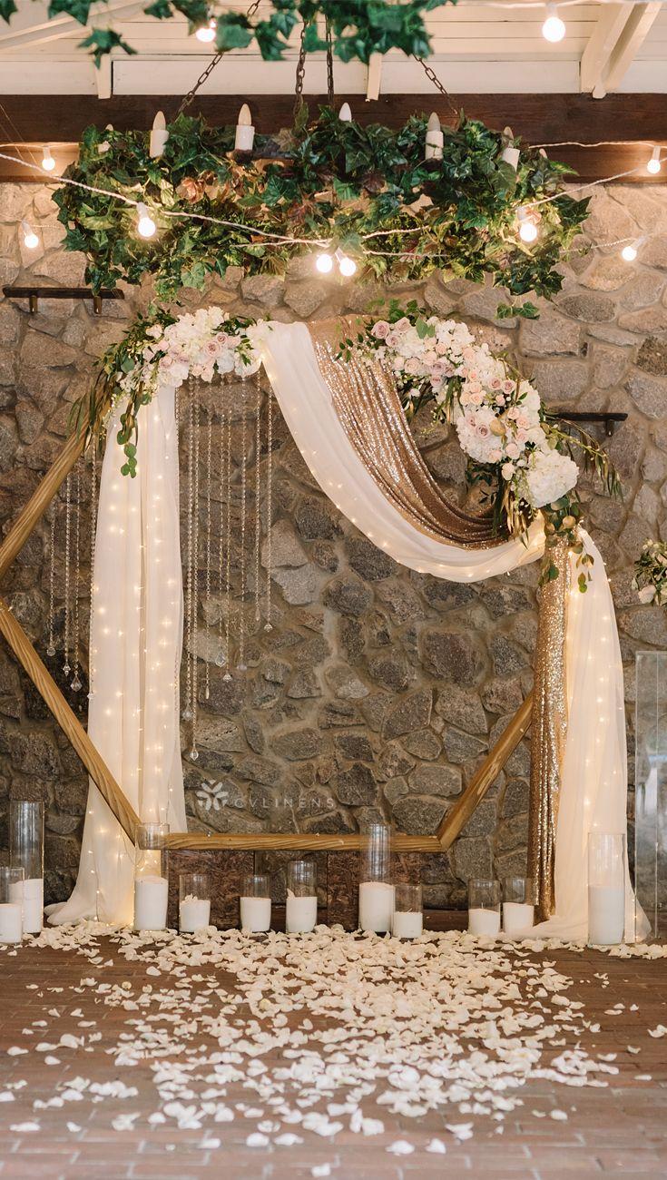 Elegant Modern Wedding Ceremony Arch Backdrop Modern Geometric
