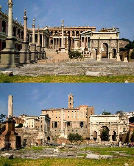 Scorcio Del Foro Romano Rome Then Now Pinterest