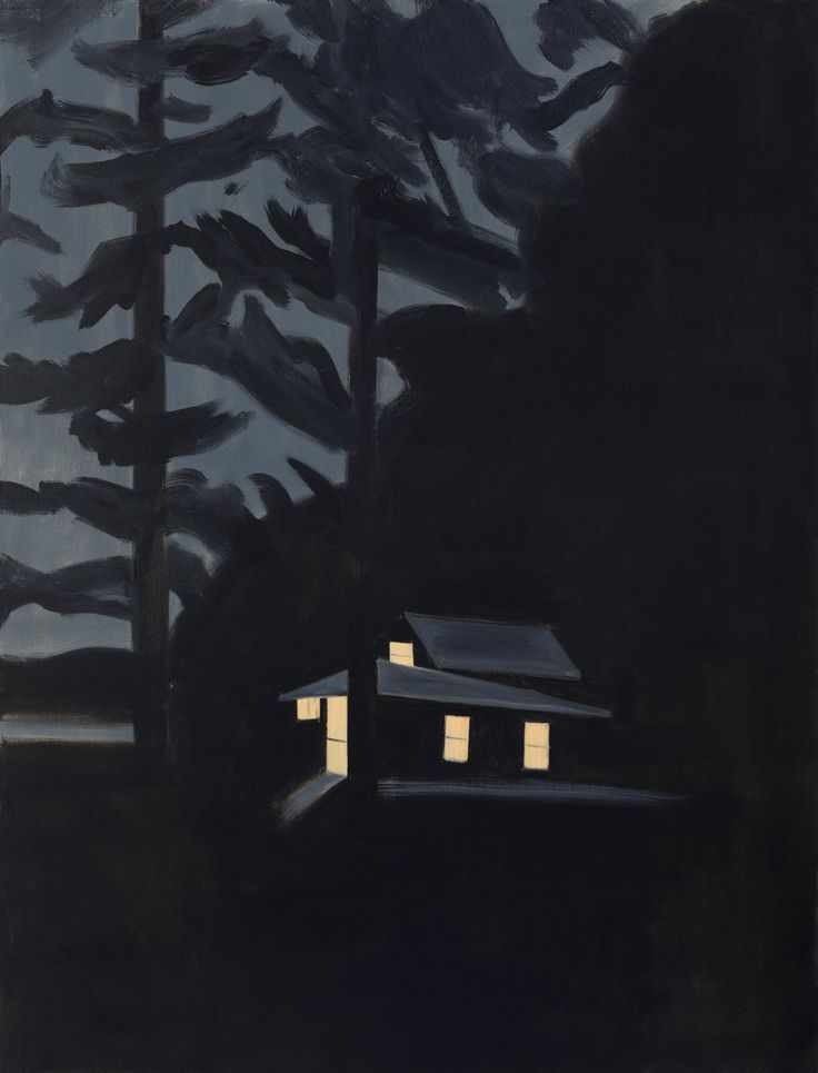 jesuisperdu:  alex katzNight House, 2013[oil on linen]