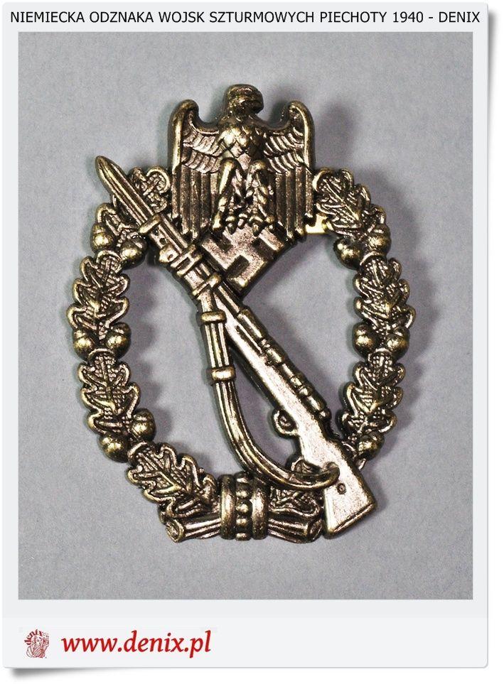 154  Niemiecka Odznaka Wojsk szturmowych zmotoryzowanych - 1940 r. Denix