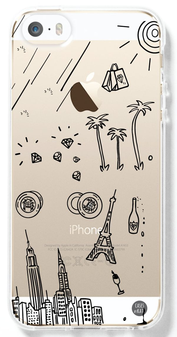 Bruno Mars That's What I Like Doodles Transparent Interchangeable Phone Case by Cases by Kate