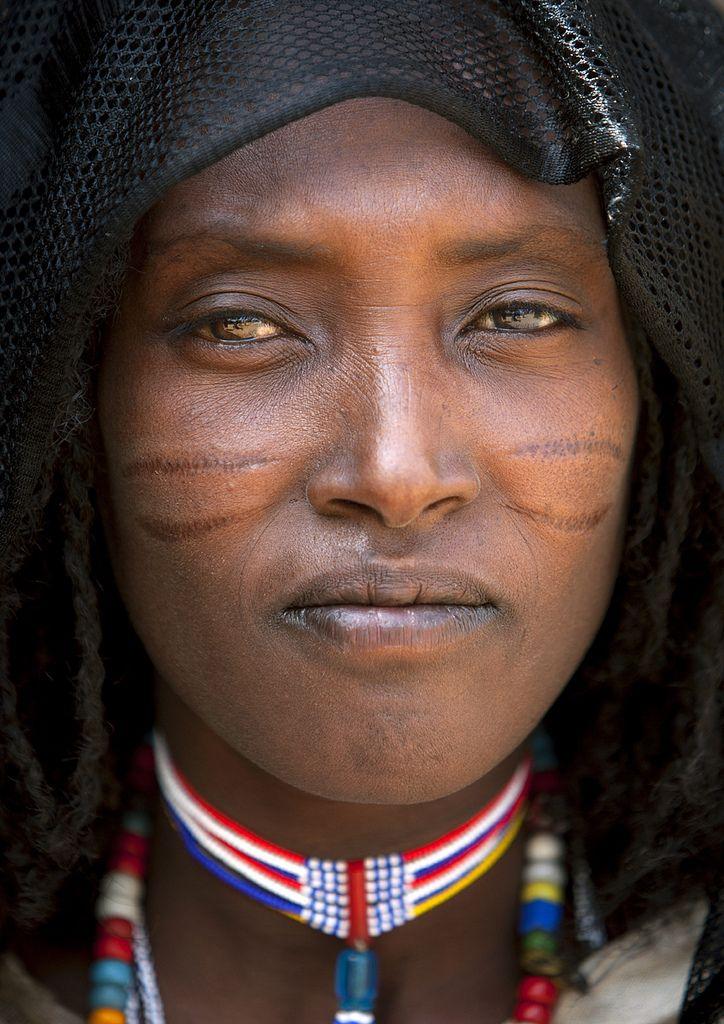 Africa | Oromo (Karrayyu) woman with scars during Gada ceremony - Oromia | © Eric Lafforgue