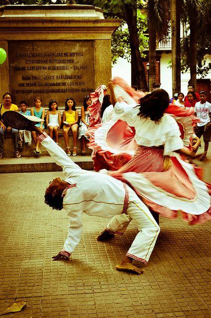 cartagena, colombia  cumbia dancing