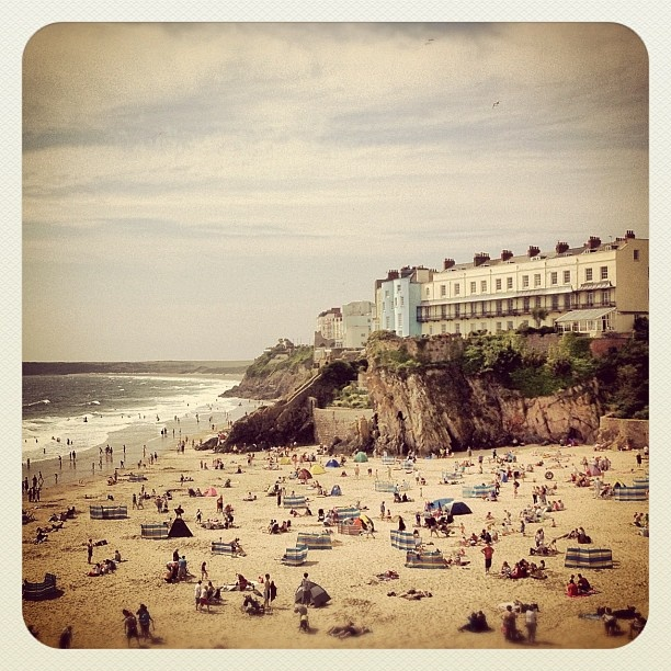 Tenby, West Wales. Old photo.