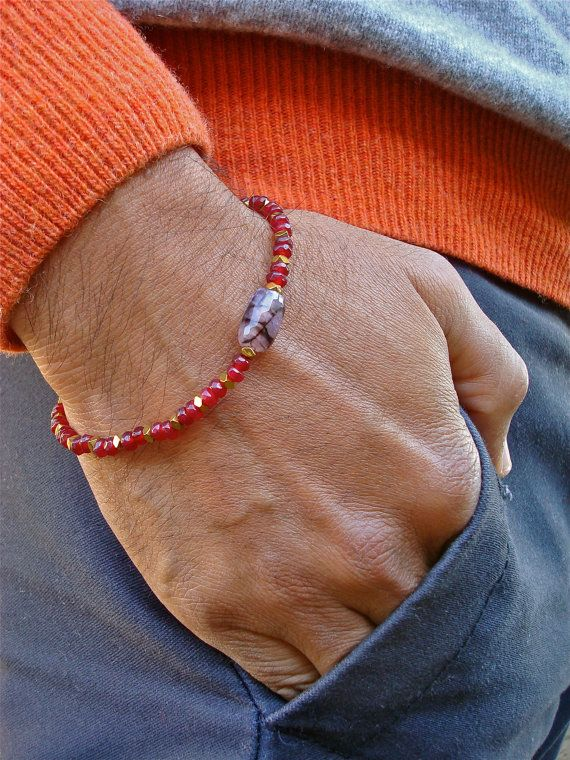 Men's Spiritual Love Protection Commitment Bracelet by tocijewelry