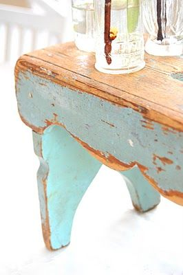 Aged to perfectionHandmade Uk, Coffee Tables, Heart Handmade, Blue Stools, Benches, Bedrooms Design, Shabby Chic, Beautiful Chippy, The Sea