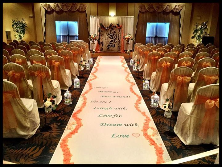 banquet chair covers for sale cheap office best beautiful ceremony set up at the executive and conference center, newark, delaware | de ...