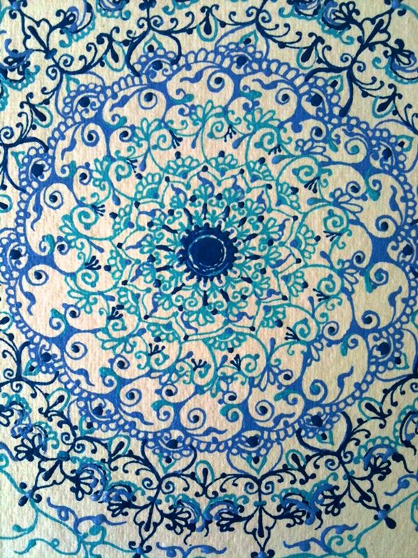 Working with creating patterns, inspired from Islamic Art.