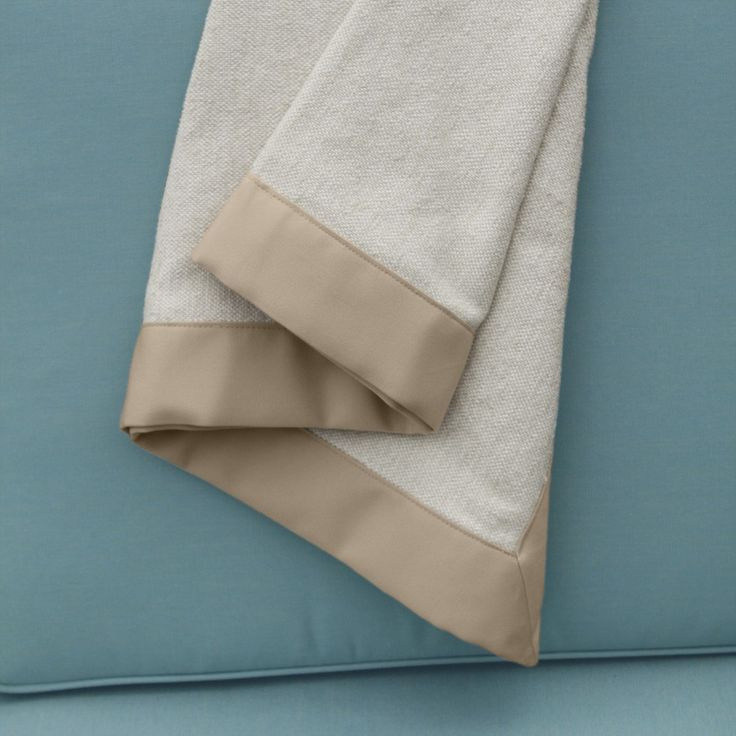 Outdoor Blanket - Throw Blanket - Almond Trim | Country Casual