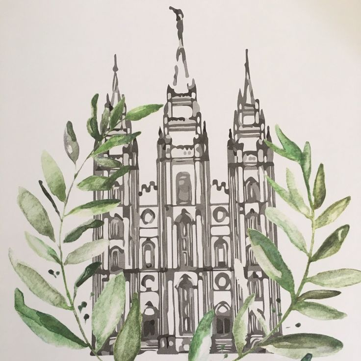 Beautiful watercolor looking LDS Salt Lake Temple. Option to customize with name and date to personalize for wedding, gift, or home decor. More Temple pictures coming soon so keep checking back.
