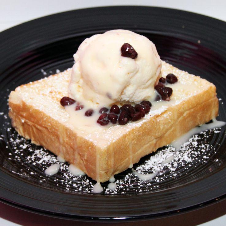 紅豆雪糕厚多 Thick Toast w/ Red Bean & Ice Cream