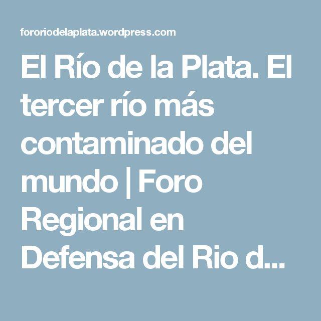 El Río de la Plata. El tercer río más contaminado del mundo | Foro Regional en Defensa del Rio de la Plata, la Salud y el Medio Ambiente