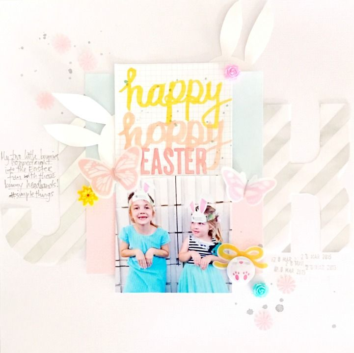 Easter Crafting With The Jot Girls - layout by Anna Allan