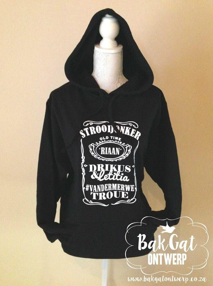 Personalised clothing #winterwedding #hoodie #married