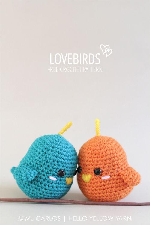 Lovebirds By MJ - Free Crochet Pattern - (helloyellowyarn)