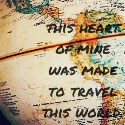 Can't wait! Want to travel forever
