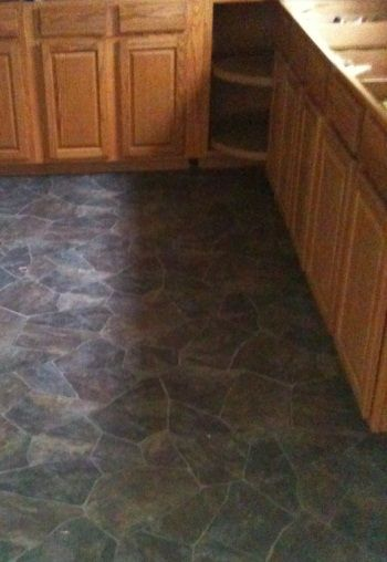 Beautiful Vinyl Flooring With A Stone Tile Look For The