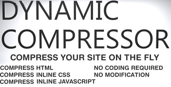 Minify your website on the fly, minimize your source code, compress HTML - inline CSS - inline JS. No modification to  actual files