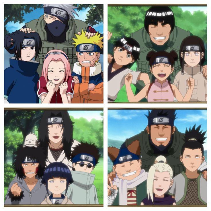All Konoha Teams From That Year! Team Kakashi (squad 7