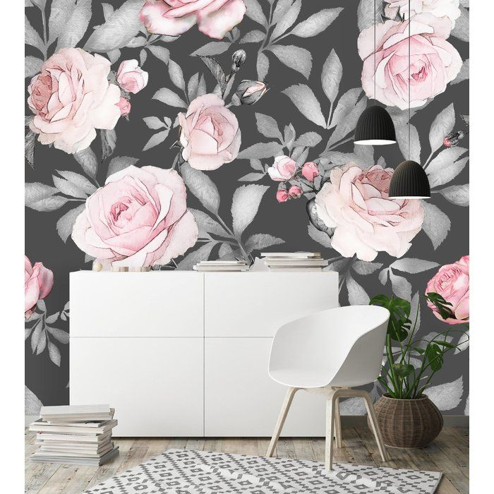 Mccall Removable Watercolor Seamless Flowers 10 L X 120 W Peel And Stick Wallpaper Roll Mural Wallpaper Peel And Stick Wallpaper Removable Wallpaper