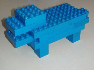 Met stappenplan:Duplo Animal - Hippo