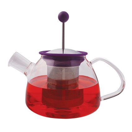 900ml Glass Teapot with French Press Infuser