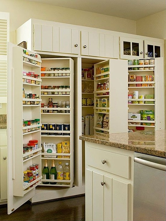 Holy pantry, batman!    Laminate, Cottage, Traditional, Country, Built-in bookshelves/cabinets