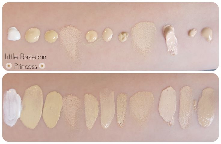 Foundation Swatches for yellow/olive toned pale skin
