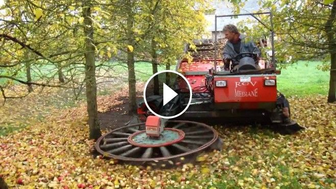 WICKED Apple-Picking Machine! - This Apple harvesting machine is great! It gathers apples from the ground in a very short time.Picking apples off the ground is hard