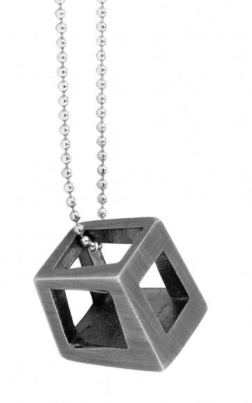 Charcoal cube pendant by love your work design