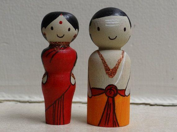 wooden dolls/ wooden hand painted dolls/ indian wooden dolls/ navarathri dolls…