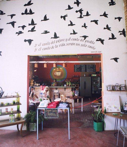 Entre Amigos Cafe and shop in San Pancho, Mexico