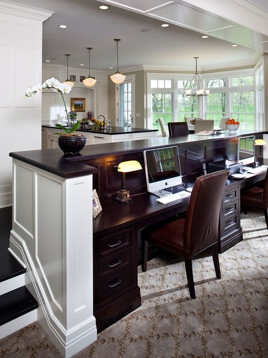 Kitchen Computer Area For The Family Home Pinterest
