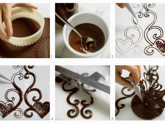 Schoko-Verziehrung für Torten und Kuchen – #für #Kuchen #SchokoVerziehrung #To…