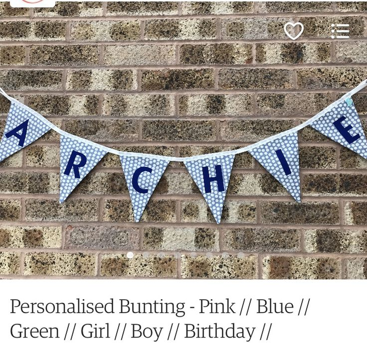 Personalised Bunting! I have made quite a few of these, and have now eventually got round to adding them to the shop! They are all custom made to order so can be done in any colour scheme, and with any name!