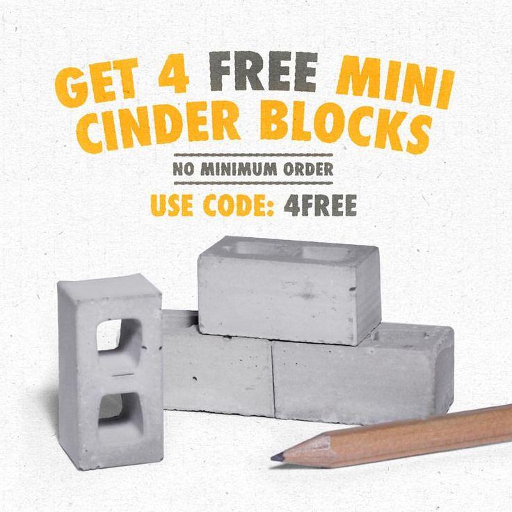 Get mini cinder blocks for free! Add the 4 pack to cart and use code 4FREE. No minimum order 💵. Link in bio #minimaterials #miniature #cinderblocks #scalemodels #sale #makersgonnamake #diy #masonry