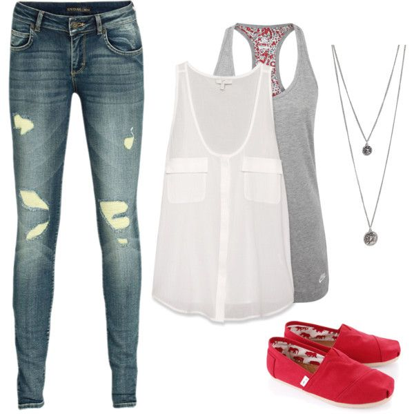 the toms are great with this outfit, they add the perfect pop of color