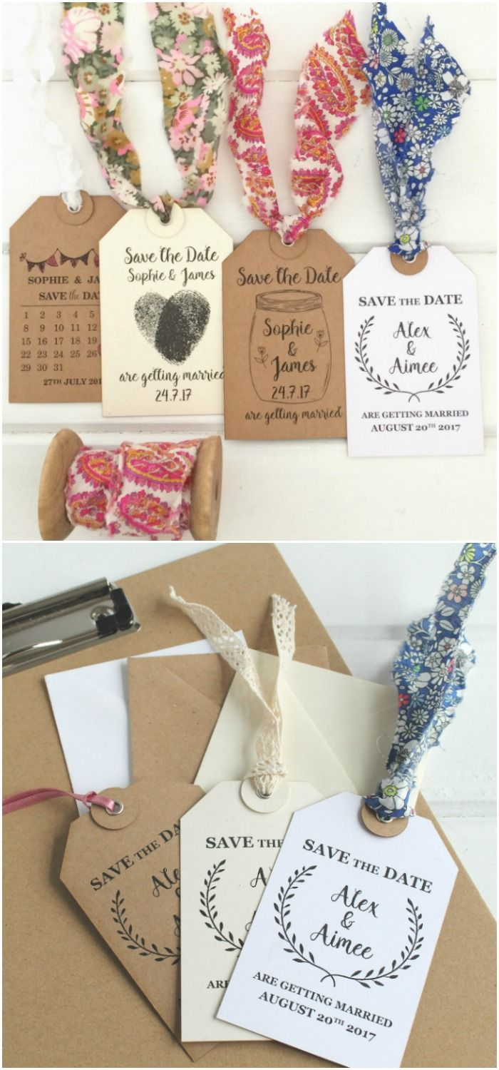 Easy DIY Save the Dates Using Personalised