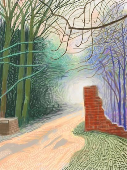 Annely Juda Fine Art | Exhibitions | David Hockney: The Arrival of Spring (2015)